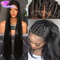 Silky Straight Silk Base Wig Brazilian Silk Top Full Lace Wigs With Baby Hair Glueless Silk Top Lace Front Wigs For Black Women