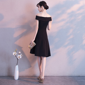 Image 2 - DongCMY Black Prom dress 2020 new arrival fashion Asymmetrical short Party Gown