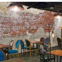 Beibehang Papel De Parede Custom Wallpaper 3d Photo Mural Paint Cement Vintage Brick Wall Cafe Restaurant