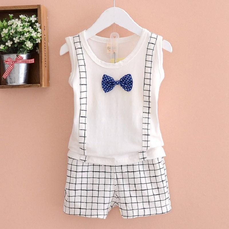 ed4787ebdfec 2017 New children clothing set baby boy kids clothes short Plaid ...