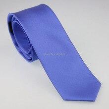 Yibei Coachella Галстуки одноцветные синие галстуки на шею жаккардовые Тканые Узкие галстуки 6 см микрофибра тонкие галстуки повседневные платья