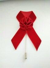Benutzerdefinierten strömten band blume pins, rosa rot schwarz band Liebe abzeichen mit blumen, anstecknadel oder kupplungsstift