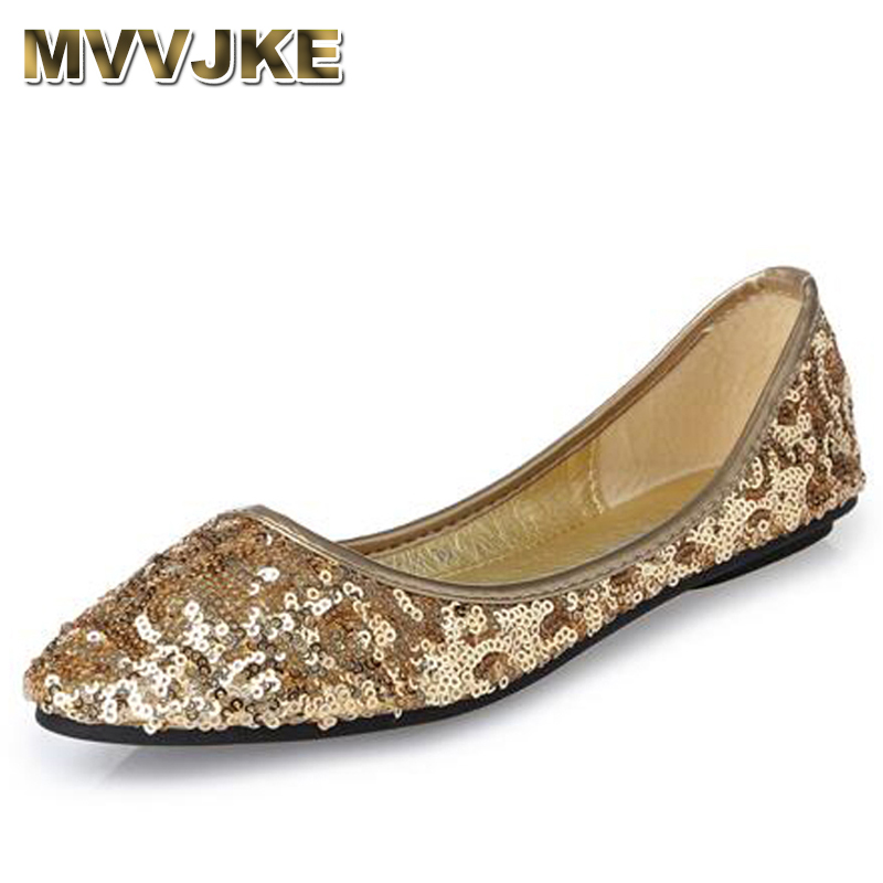 MVVJKE 2018 Summer Women Flats Cut-outs Comfortable Women Casual Shoes Bling Pointed Toe Boat Shoes Breathable Big Size Woman big size footwear woman flats shoes bling beads pointed toe boat shoes for women black solid fashion soft sole ladies shoe 43