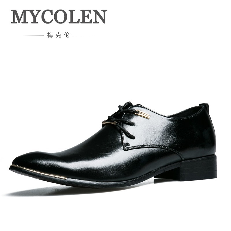 MYCOLEN Luxury Brand Men Dress Shoes Oxford Italian Leather Man Shoes Formal Footwear Office Shoes For Men Height Increasing 5CM цены онлайн