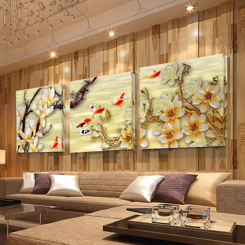 Canvas Pictures White Magnolia Wall Art Canvas Paintings Living Room ...