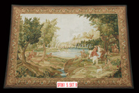Free Shipping 5.5'X7.9' Handmade wool aubusson tapestry gobelin carpet, wall hanging tapestry wool tapestry paintings
