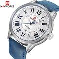 NAVIFORCE мужские часы лучший бренд класса люкс  мужские Модные простые кварцевые часы с кожаным ремешком  повседневные деловые водонепроницае...