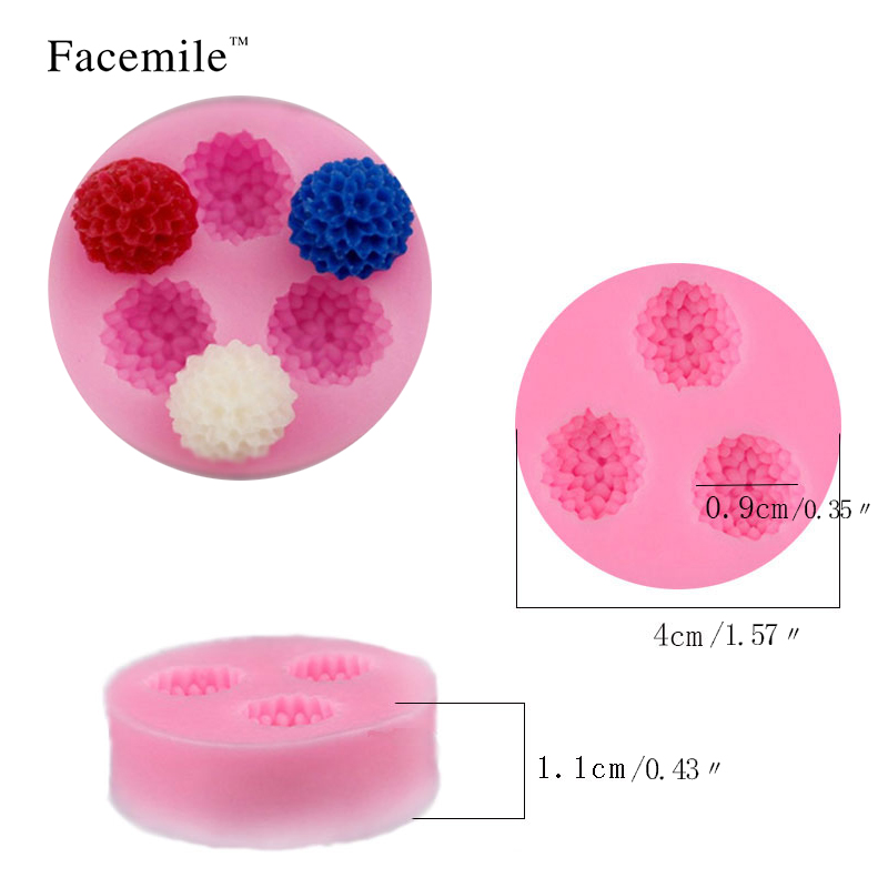 Facemile Hot sale Baking tools Kitchen soft cake decorating tool Double sugar mould litchi et stitch liquid silicone mold 50-51