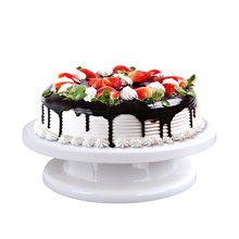 28cm Cake Rotating Stand Plastic Dough Knife Decorating Cream Turntable Cakes Rotary Table Tool