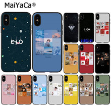 MaiYaCa EXO band k-pop kpop TPU Weiche Silikon Schwarz Telefon Fall für Apple iPhone 8 7 6 6 S Plus X XS MAX 5 5 S SE XR Mobile Abdeckung(China)