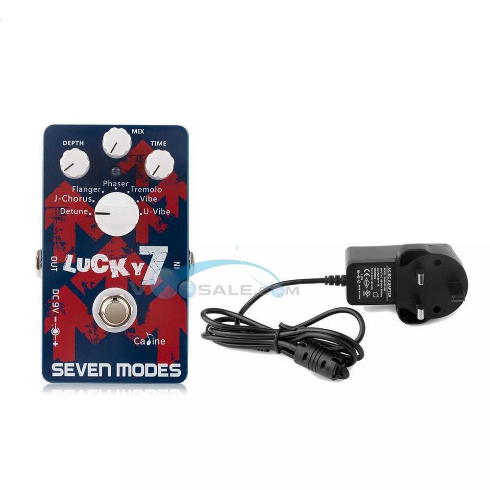 Caline CP-38 7 haute qualité Modu effet guitare pédale Ture contournement guitare pédale + AC100V-240V à DC9V/1A adaptateur accessoires guitare