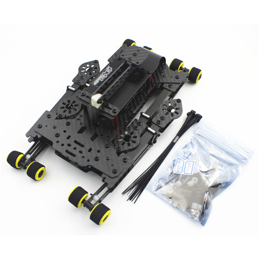 DH410 FPV Folding Carbon Fiber Quadcopter Frame FPV with Retractable Landing Skid 410mm Wheelbase