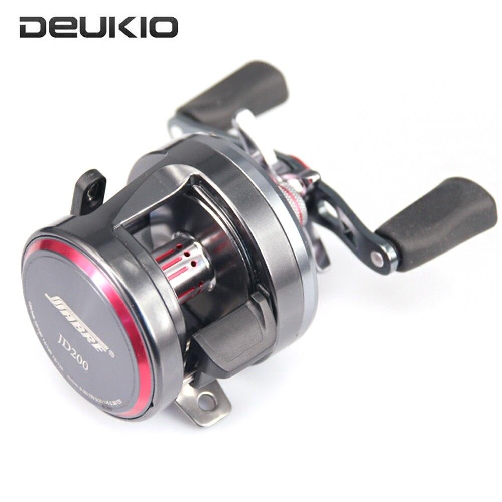 DEUKIO moulinet de pêche à l'appât 7 + 1 BB système de freinage à la traîne tambour roue eau salée Pesca pêche en mer Baitcasting moulinet JD200-301