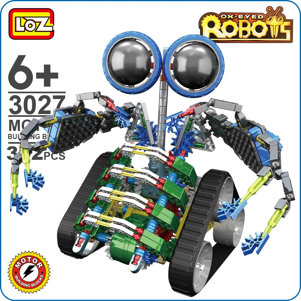 LOZ Blocks Motor Building Block Set Turbo Robot Toy Gear Brick Children Toys Building Blocks Kids Toys Educational DIY Gift 3027 8pcs diferent dinosaur world plastics kid baby toy building blocks brick educational toys for children kids set