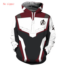 The Avengers Endgame 3D Hoodie Men Quantum Realm Ironman Mens Sweatershirts Captain America Costume Women Hoddie Zipper Jacket