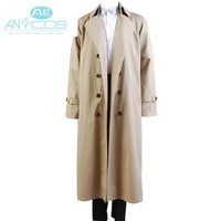 Supernatural Castiel Twill Trench Spring Autumn Cosplay Costume