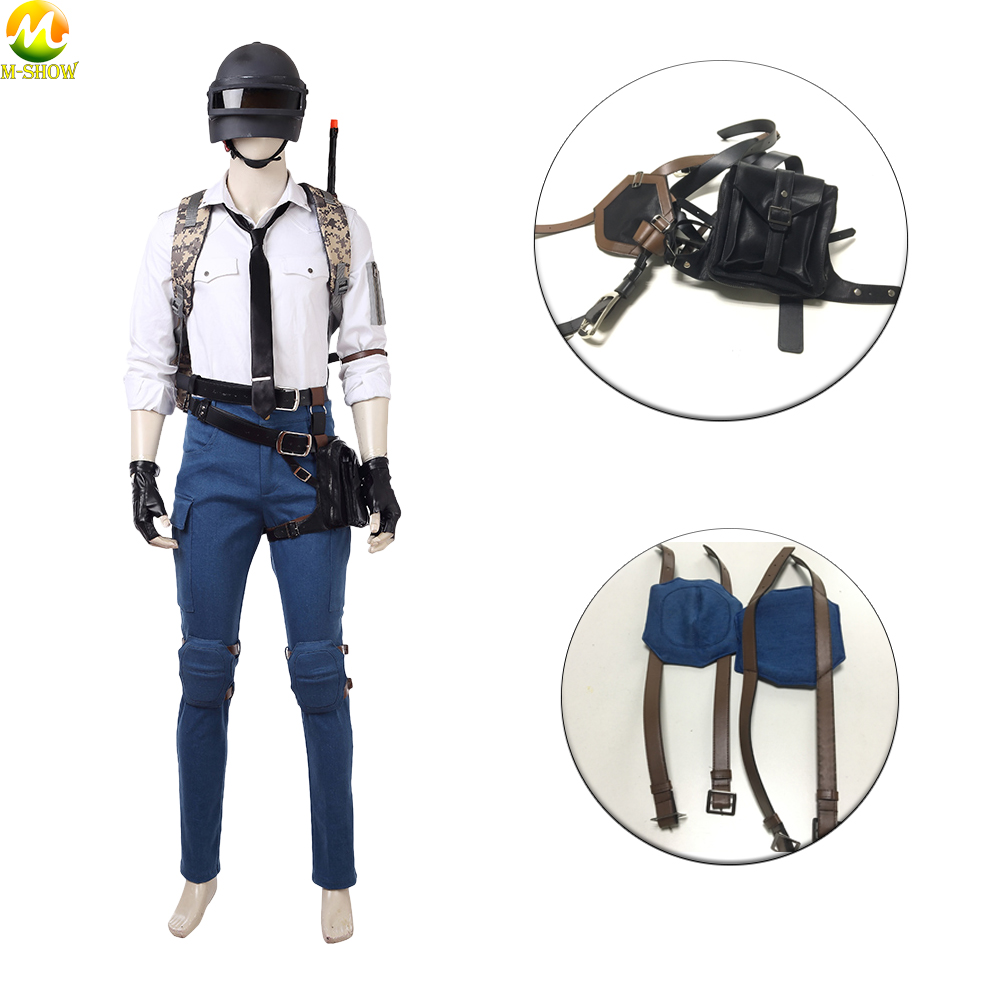 PUBG Waist Bag kit Playerunknown's Battlegrounds Cosplay Costume Accessories Halloween Costume Kneepad Leather Belt Bag Cosplay