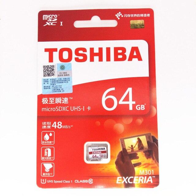 64 ГБ карта micro sd карты памяти sdxc class10 UHS-1 48 МБ/С. TOSHIBA sd карты 64 ГБ флэш-карты для Смартфонов/таблетки/Камеры/HD DVR