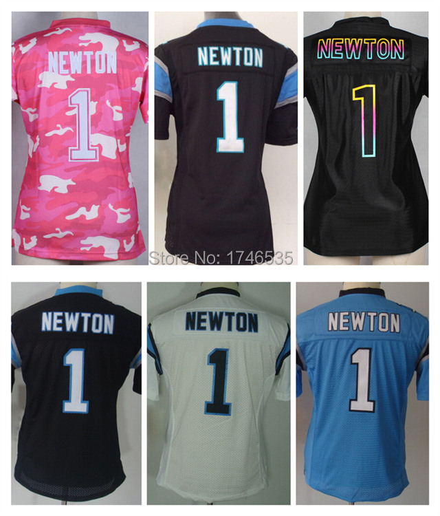 quality design 6d014 ed27a Free Shipping Newest Women's American Football Jersey 1 Cam ...