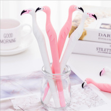 2pcs/lot Creative flamingo gel pen Kawaii students Writing Neutral pens Caneta Office School Stationery Supplies цена