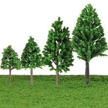 JIMITU 5 шт./компл. пластиковые миниатюрные модели деревьев для строительства поездов макет железной дороги пейзаж аксессуары игрушки для детей