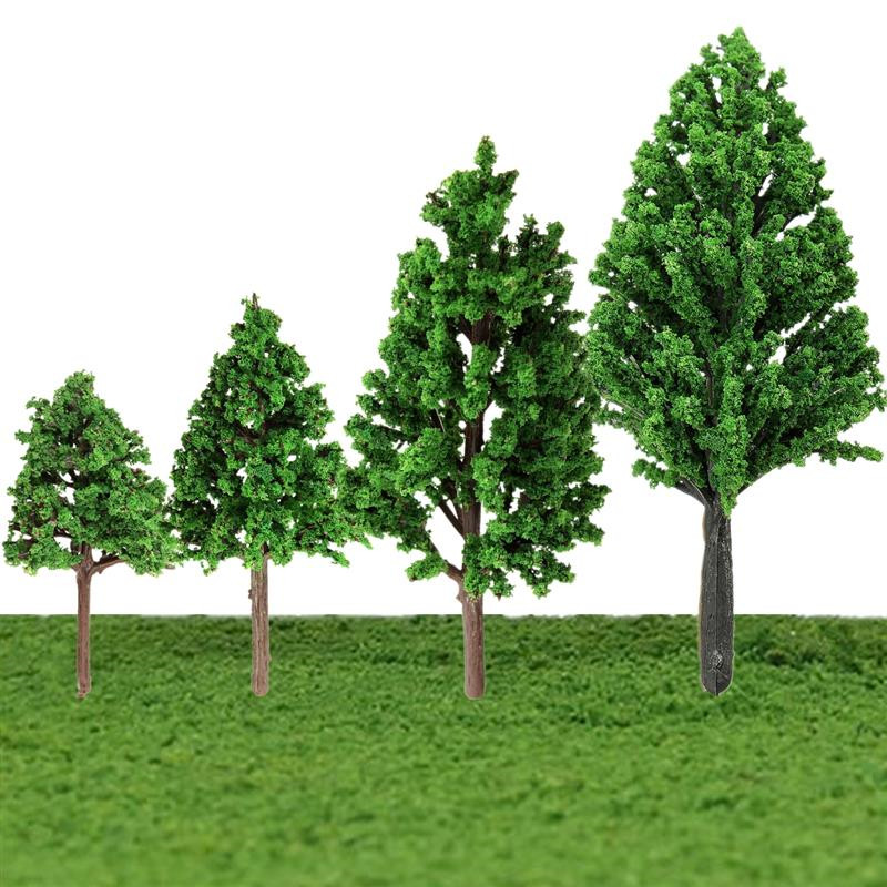 JIMITU 5PCS/Set Plastic Miniature Model Trees For Building Trains Railroad Layout Scenery Landscape Accessories Toys For Kids