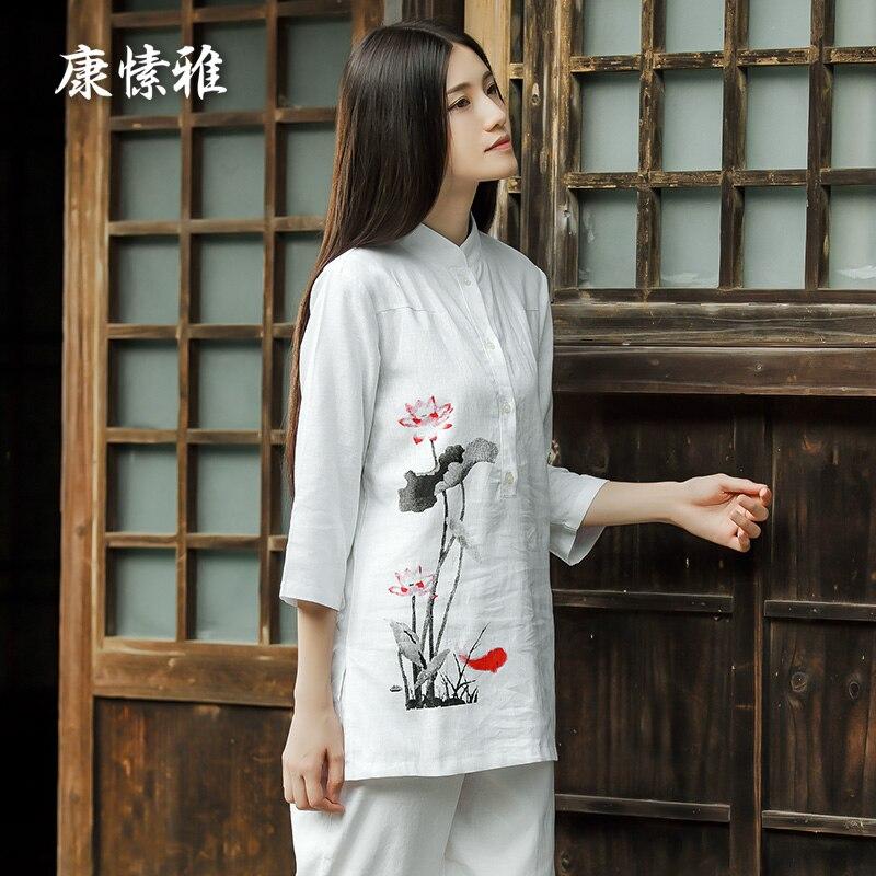 Women Gym Sport Suits Tracksuits Printing Kong Fu Yoga Shirt Pants Loose Yoga Sportswear Set Zen Meditation Clothing Large Size nicola jane hobbs yoga gym
