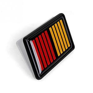 3d adesivo de carro peças do motor decoração do carro envoltório etiqueta do carro grade estilo acessórios para ralliart