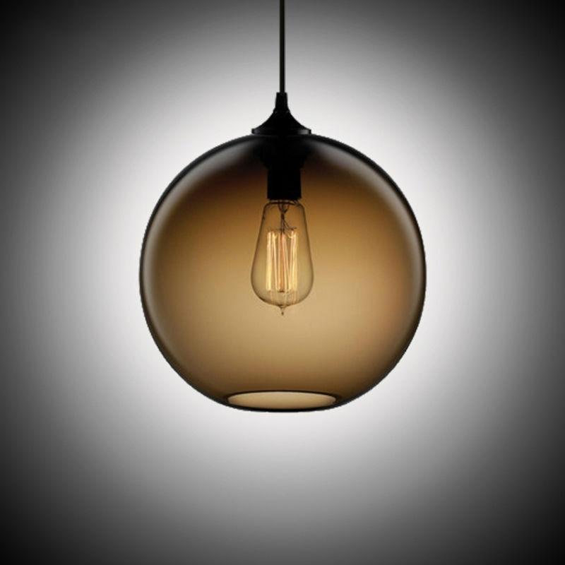 ФОТО Glass Ball Pendant Lights Loft Vintage Antique Industrial light Fixtures for Kitchen Restaurant Dining Living Room Cafe Bar lamp