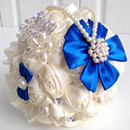 Pink purple green blue handmade artificial wedding flowers bridal bouquet buque de noiva artificial bouquet de mariage