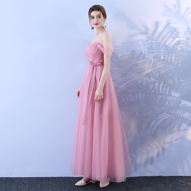 Vestido de noiva Beauty Emily pink prom dress Bridesmaid's dresses for wedding party Bridesmaid Dress Prom gown robe de soiree