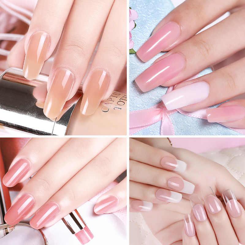 Mizhse 10 Ml Uitbreiding Gelpolish Clear Roze Naakt Nail Tips Uv Builder Gel Losweken Lak Nail Vernissen Manicure Removal