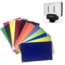 12 farbe Korrektur Gele Filter Karte Beleuchtung Diffusor für Aputure AL M9 Tasche Fotografische LED Video Licht