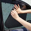 2Pcs Car Window Side Sun Shade Block Static Cling Visor Shield Screen Black Window Foils & Solar Protection