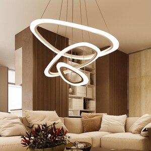Image 2 - מודרני led תליון אורות אקריליק מקורה תאורת led סלון אוכל חדר luminaire suspendu אור גופי