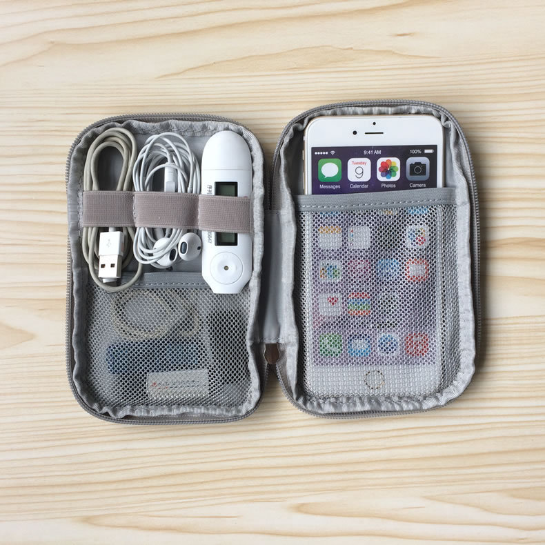 Travel Kit Small Bag Mobile Phone Case Digital Gadget Device USB Cable Data Cable Organizer Travel Inserted Bag Storage Bag image