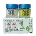 YINNI Зеленый чай анти веснушки по уходу за кожей отбеливания крем для лица удаления пигмента 2 в 1 8 шт./лот