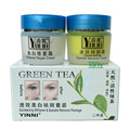 YINNI Green tea anti freckle skin care whitening cream for face remove pigment 2 in 1  8pcs/lot