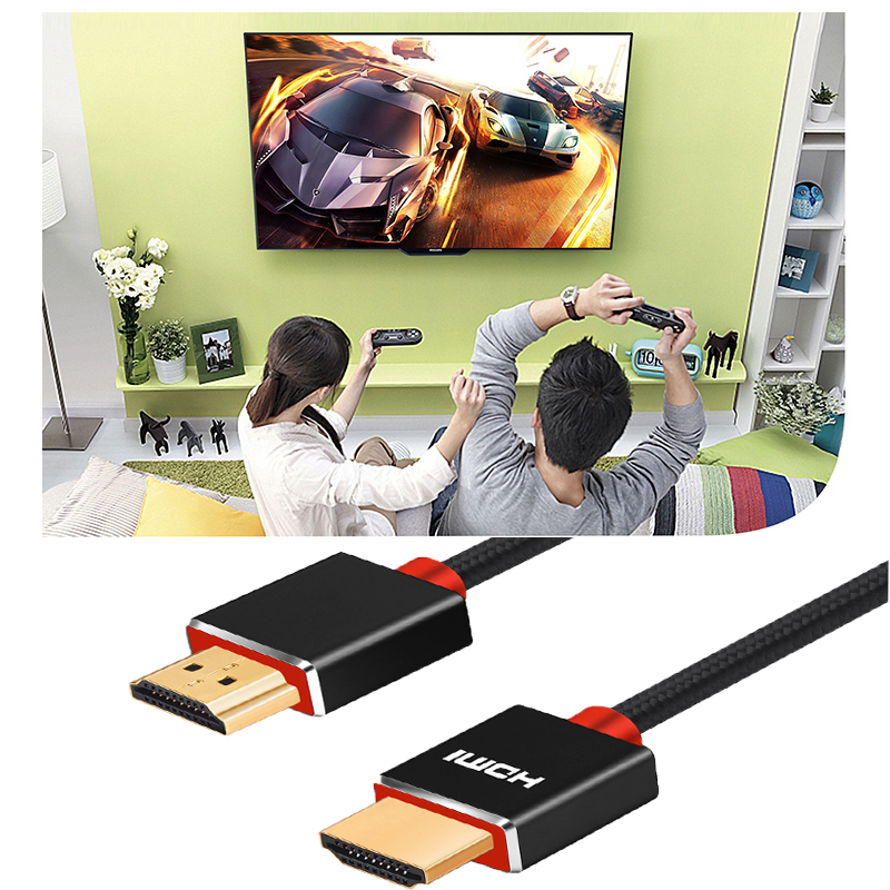 Lungfish 3D 1080P HDMI CABLE with Audio and Video cable Braid High Speed HDMI Cable Male to Male HDMI Cable Adapter for PS4 XBOX