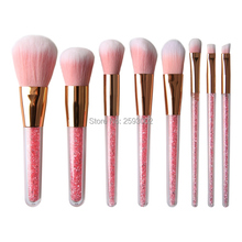 все цены на New 8 Pcs Set Makeup Brushes Pink Diamond Handle Make Up Brushes Fiber Brush Set Foundation Eyeshadow Powder Brushes Tool онлайн