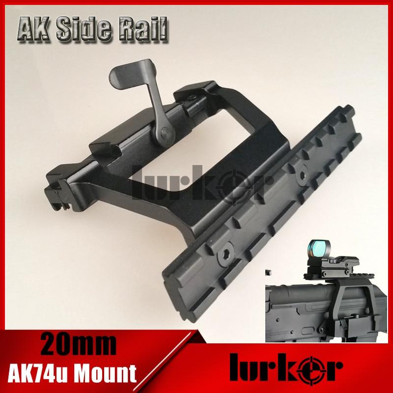 KINSTTA Tactical AK 74U montaje rápido 20mm AK Side Rail Lock Montaje del alcance del Base para AK 74U Rifle caza y CS batalla