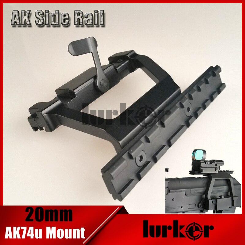 KINSTTA Taktische AK 74U Mount schnellspanner 20mm AK Seite schiene Schloss Zielfernrohrmontage Basis für AK 74U Gewehr Jagd & CS schlacht
