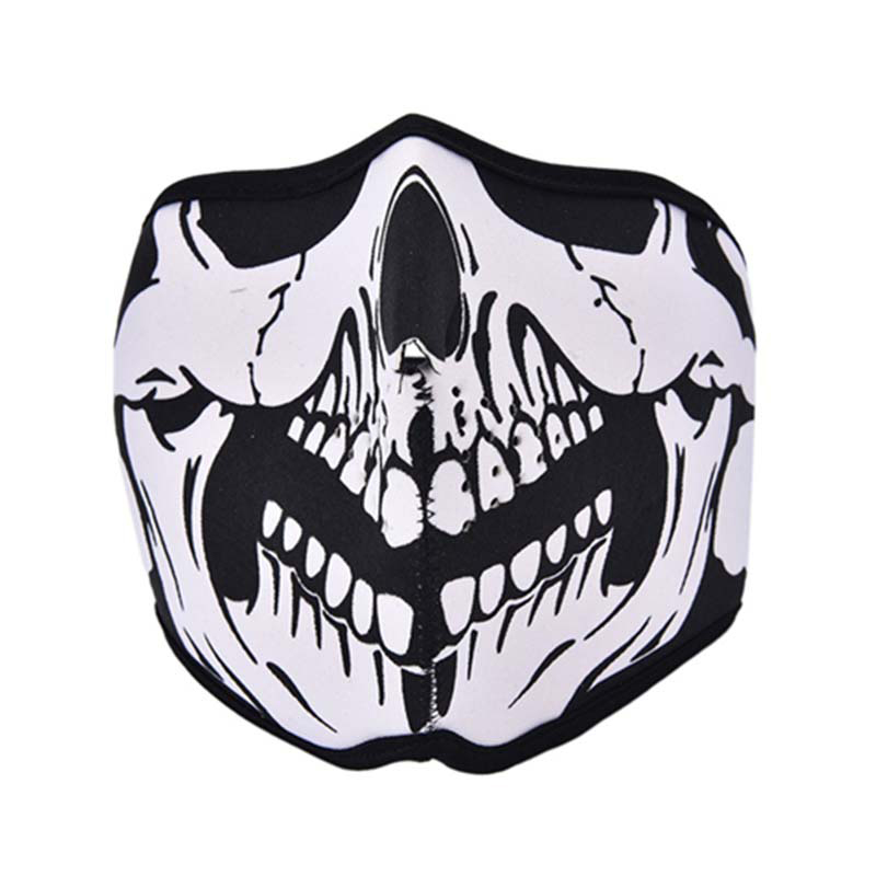 NEW Outdoor Windproof Cycling Motorbike Half Full Masks Tooth Neoprene Ghost Skull Balaclava Face Mask Headgear Bike