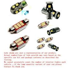 Free Shipping 10Pcs/Lot Xenon White Premium Package Kit LED Interior Lights For Honda Accord 1998-2002