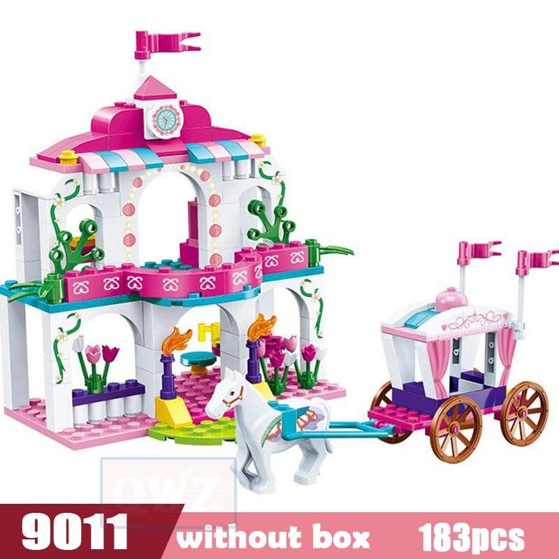 Legoes город девушка друзья большой сад вилла модель строительные блоки кирпич техника Playmobil игрушки для детей Подарки - Цвет: 9011 without box