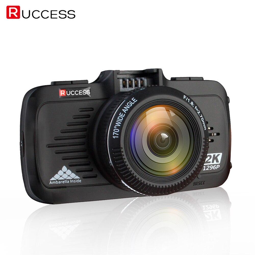 RUCCESS DVR Ambarella A7LA50 Car DVR GPS Logger Mini Dash Cam Full HD 1080p 1296p Car Camera Nigh Vision ADAS Speed cam Car DVRS