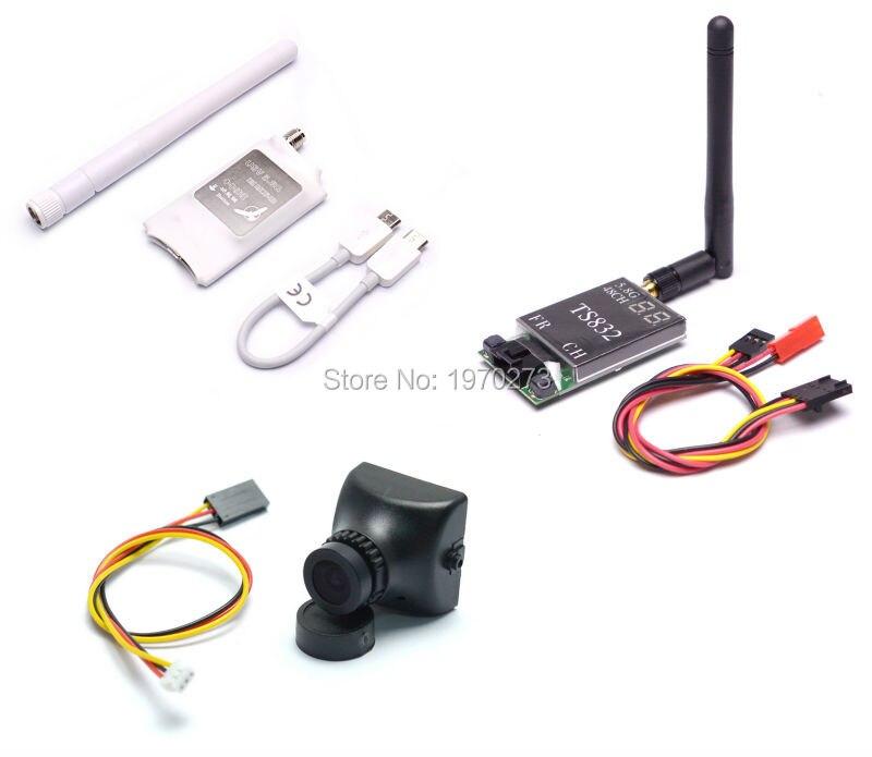 TS832 48CH 600 mW Module émetteur sans fil et 700TVL Camere & Mini 5.8G FPV récepteur UVC vidéo liaison descendante OTG VR téléphone Android