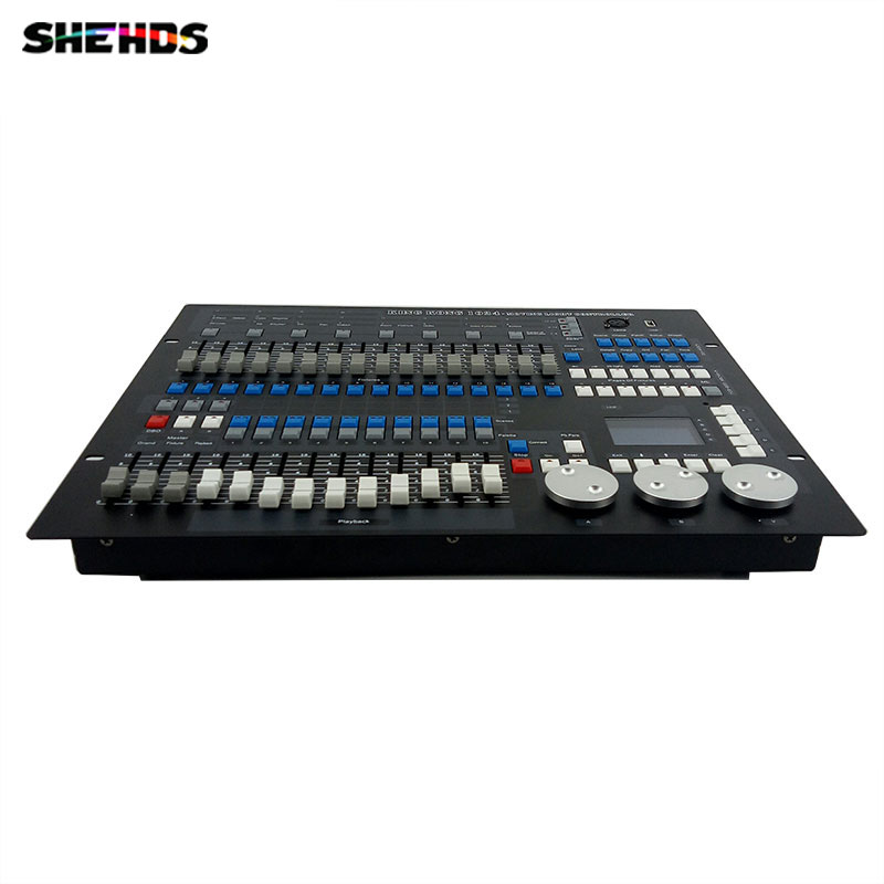 Fast Shipping 1024 Channels DMX512 DMX Controller Console DJ Disco Equipment Good for LED Par Moving Head SHEHDS Stage Lighting new 240 dmx controller stage lighting dj equipment dmx console for led par moving head spotlights dj free shipping shehds