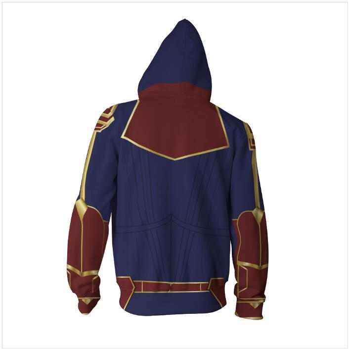 Image 4 - 3D Printed Captain Marvel Carol Danvers Ms Marvel Costumes Hoodies Sweatshirts Tracksuit Casual zipper hooded Jacket clothing-in Hoodies & Sweatshirts from Men's Clothing