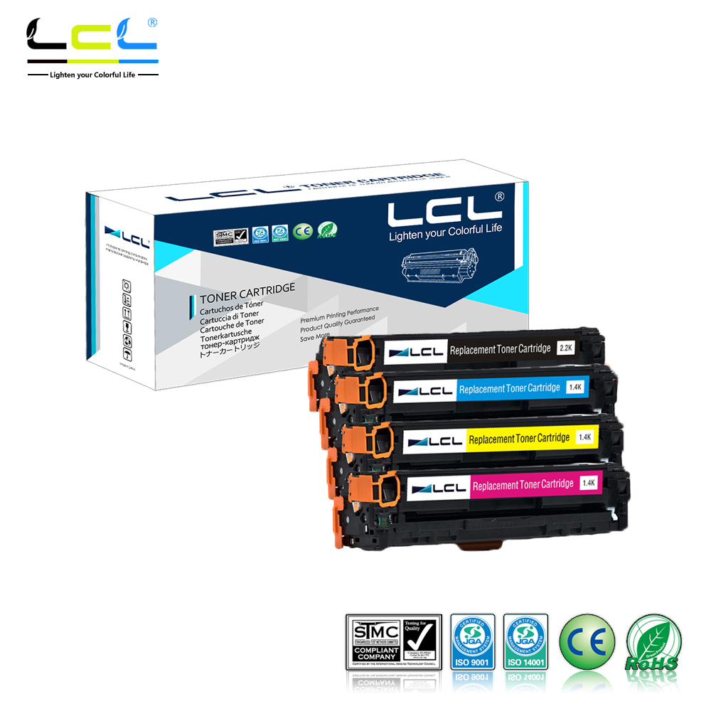 LCL 125A CB540A CB541A CB542A CB543A (4-Pack KCMY) Toner Cartridge Compatible for HP Color laserJet CP1213 CP1214 CP1215 CP1216 4 pack high quality toner cartridge for oki c5100 c5150 c5200 c5300 c5400 printer compatible 42804508 42804507 42804506 42804505